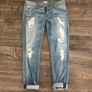 Hudson light wash ripped jeans